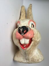 Vintage Paper Mache Head Rabbit Mask Macabre Donnie Darko Rare Amazing