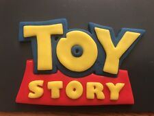 Toy Story Edible Badge  Logo Cake Topper Hand Made 3D Icing