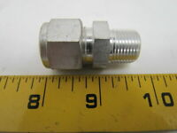 "Swagelok S-810-1-6 1/2x3/8"" Male Connector Tube Fitting Steel NPT"