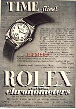 Small 1939 ROLEX 'Oyster Chronometer' Wrist Watch AD - Art Deco Print ADVERT