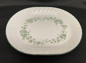 "Corelle CALLAWAY Green Ivy Oval Serving Platter 12 1/4"" by 10"""