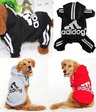 Small Big Pet Dog Puppy Cat Adidog Clothes Sweater Jacket Shirt Hoodie Jumpsuit