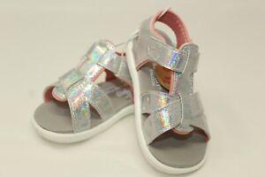 NWT See Kai Run Girls Silver Glitter & Pink Sandals Size 4,5,6,7