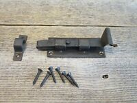 IRON FLAT SLIDING LOCK CABINET DOOR CUPBOARD BOLT SLIDE LATCH BARN VINTAGE LOOK
