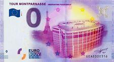 BILLET 0 ZERO EURO SOUVENIR TOURISTIQUE PARIS TOUR MONTPARNASSE 2016