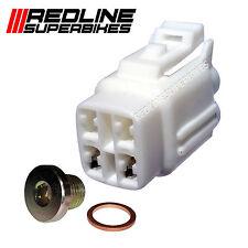o2 Oxygen Lambda Sensor Eliminator Set Blanking Plug Suzuki GSXR 600 08 - 16