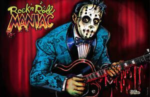 Rock n Roll Maniac art Print poster Rockabilly Psycho slasher by Scott Jackson