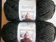 Bernat Roving bulky wool blend yarn, Flint, lot of 2 (120 yds each)