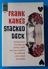 Vintage FRANK KANE STACKED DECK Noir Crime Thriller PB DELL BOOK 1961