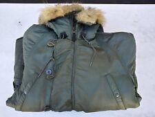 Vintage N-3B/N3B US Air Force Flying Coyote Fur Parca Jacket Coat Medium