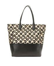 NWT ANN TAYLOR floral leopard jacquard shopper shoulder handbag