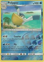 POKEMON SUN & MOON CARD: PELIPPER - 38/149 - REVERSE HOLO
