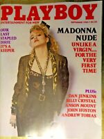 MAGAZINE MADONNA UNLIKE A VIRGIN FOR THE VERY FIRST TIME SEPTEMBER 1985
