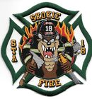 """Skokie  Station  - 18, Illinois (4.5"""" x 4.5"""" size) fire patch"""