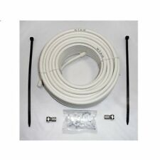 15 m SAT TV Kabel 75dB 4K UHD Koaxial Kabel HDTV Antennenkabel F-Stecker