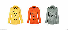 Polyester No Pattern Double Breasted Casual Women's Coats & Jackets