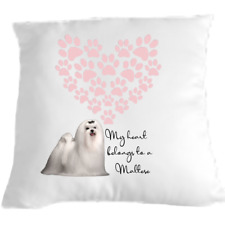 More details for maltese terrier cushion dog lovers gift for valentines day