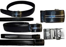 real leather mens belt size m automatic lock buckle dress casual fashion belt