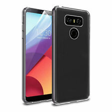 LG G6 TPU Gel Clear Back Rubber Case Cover Skin with Screen Protector