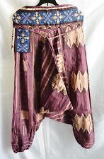 Mens ,womens Gypsy Boho Hippie Aladdin Baggy Genie Harem Hmong cotton Pants 019