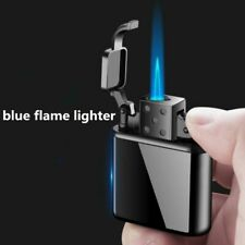 Lighter Windproof Blue Flame Cigar Inflatable Cigarette For Smoking Metal Tools