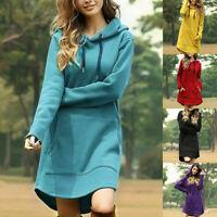 Sweater Tops Women Pullover Hoodie Dress Hooded Long Sleeve Jumper Sweatshirt