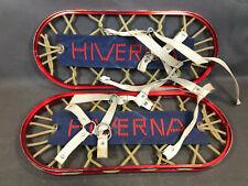 Ancienne paire de raquettes à neige vintage HIVERNA déco chalet montagne Savoie