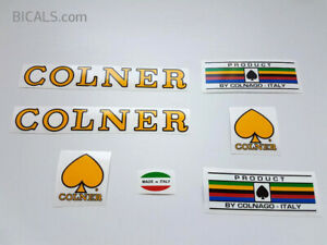 COLNER yellow letter decal set sticker complete bicycle FREE SHIPPING