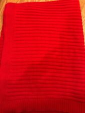 Nwt Ralph Lauren Cotton Ringspun Knit Throw Red 50 x 70""
