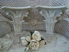 PAIR OF SHABBY FRENCH STYLE WALL SHELVES PEDESTALS ***PRETTY***