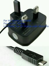 Uk Main Micro Usb Wall Plug Mobile Phone Charger For Samsung Galaxy S3 S2 ***