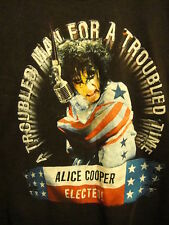 Alice Cooper Elected President ~ 2Xl ~ Rare 2000 Concert Tour ~ 2 Sided T Shirt