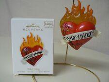Hallmark Ornament 2010 WILD THING NEW Magic Light Sound Heart Fire Flower