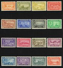 BAHAMAS 1948 KG VI ELEUTHERA SETTLEMENT SET VERY LIGHTLY MOUNTED MINT SG 178-193