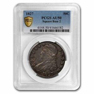 1827 Capped Bust Half Dollar AU-50 PCGS (Square Base 2) - SKU#193679