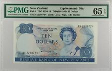 New Zealand ND (1981) P-172a* PMG Gem UNC 65 EPQ 10 Dollars *Replacement Note