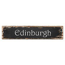SP0208 Edinburgh Street Sign Bar Store Shop Pub Cafe Home Room Chic Decor