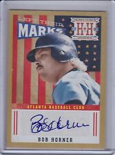 BOB HORNER 2013 Hometown Heroes Left Their Marks Autograph Gold #02/10   (C968)