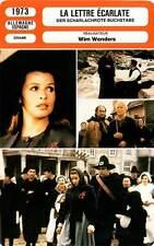 FICHE CINEMA : LA LETTRE ECARLATE - Berger,Wenders 1973 The Scarlet Letter