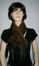 "NEW 44"" DEMI BUFF MINK WITH TAILS FUR BOA SCARF"