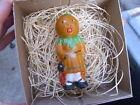 New 3D Dresden Paper Halloween Ornament Pumpkin Gal w Black Cat n Flames