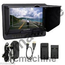 """Lilliput 7"""" 665HO HDMI In & Out Monitor+hot shoe stand+HDMI cable+BNC Adapter"""