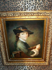 """Scholar w Portfolio Museum Quality """"Masters Style"""" Reproduction Oil Painting"""