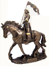 New Joan Of Arc On Horse With Sword & Flag Statue Sculpture Figurine Fast Shippi