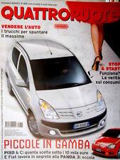 Quattroruote 645 2009 Fiat e la Panda3. Speciale Ferrari 599 GTB Fiorano [Q86]