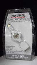 BOX OF 40 ZIP-LINQ 1394 FIREWIRE CABLES FOR IPOD RETRACTABLE A02 48''