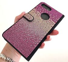 Faded Pink Made with Swarovski Crystals Bling Card Wallet Case iPhone 7/8 Plus