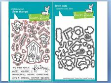 Lawn Fawn Photopolymer Clear Stamp & Die Combo FROSTY FAIRY FRIENDS ~LF1224,1225