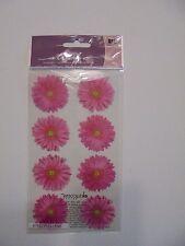 STICKO PINK GERBERA FLOWERS SCRAP BOOK STICKERS