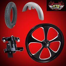 "Harley 26 inch Front End Big Wheel kit, Wheel, Tire, Neck, & Fender  ""5 Blade"""